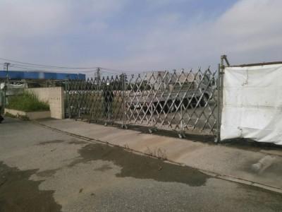 2015-10-28袖ケ浦市 ゲート設置