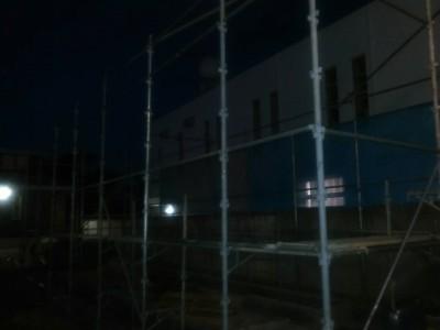 《富津市 新築先行足場》