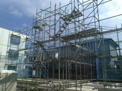 《千葉市中央区 新築先行足場》